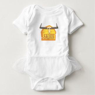 Body Para Bebé Muestra del salón con el dibujo de la cabeza
