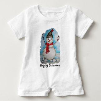 Body Para Bebé Muñeco de nieve magnífico de la acuarela con la