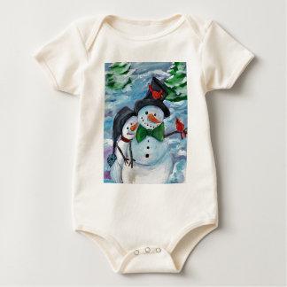 Body Para Bebé Muñecos de nieve que visitan cardinales