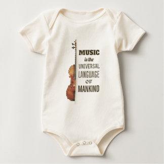 Body Para Bebé Música el mono de la lengua universal el  