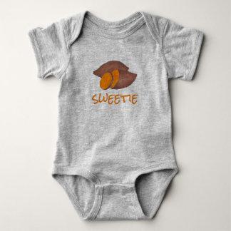 Body Para Bebé Ñame anaranjado de Foodie de las patatas de la