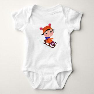 Body Para Bebé Naranja del chica del patinaje de hielo