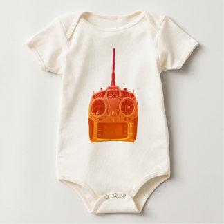 Body Para Bebé Naranja del estilo de Miami/radio roja de Spektrum