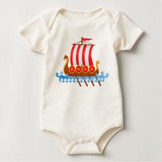 Body Para Bebé Nave de Viking