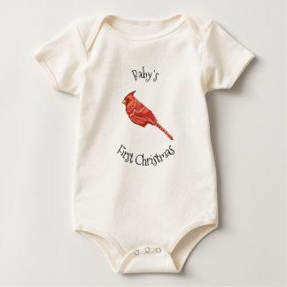 Body Para Bebé Navidad del bebé de los cardenales el primer