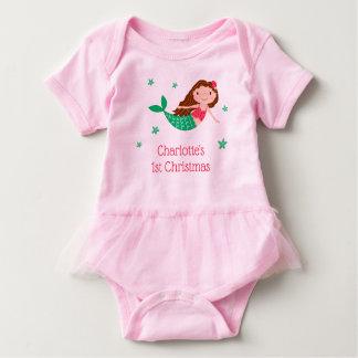 Body Para Bebé Navidad lindo de la sirena 1r
