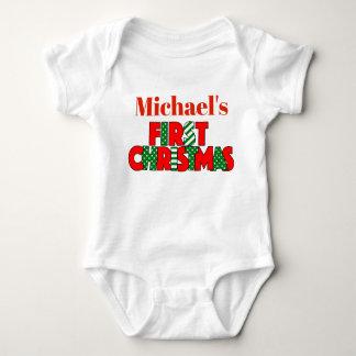 Body Para Bebé Navidad rojo y verde del bebé primer