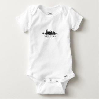 Body Para Bebé New York Dark-White Skyline v07