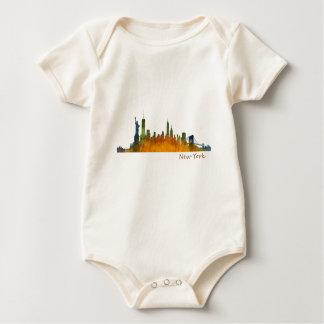 Body Para Bebé New York watercolor Skyline