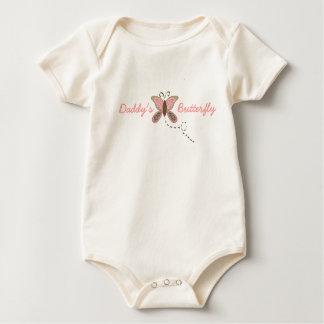 Body Para Bebé Niña pequeña de la mariposa del papá orgánica