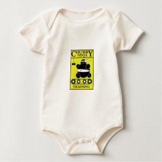 Body Para Bebé Ninja rechoncho - entrenamiento (amarillo)