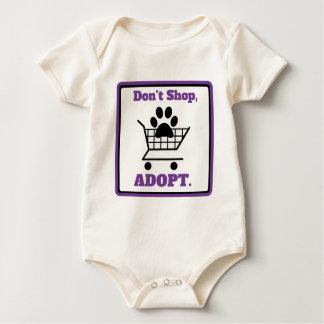 Body Para Bebé No haga compras adoptan