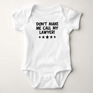 Body Para Bebé No haga que llama a mi abogado