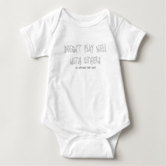 Body Para Bebé No juega bien con otros