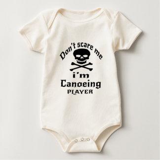 Body Para Bebé No me asuste que soy jugador Canoeing