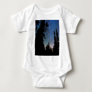 Body Para Bebé Noche del bosque de la montaña rocosa
