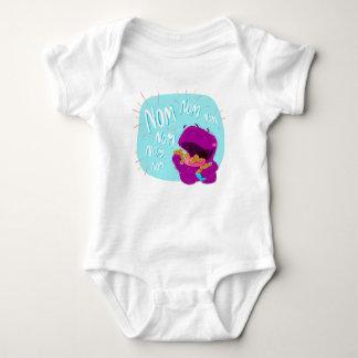 Body Para Bebé ¡Nom Nom Nom! Mono del bebé del monstruo