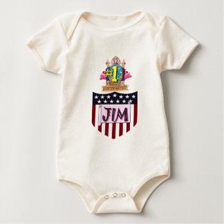 Body Para Bebé Número uno Jim