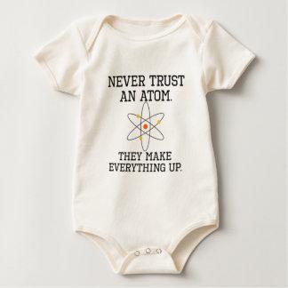 Body Para Bebé Nunca confíe en un átomo - ciencia divertida