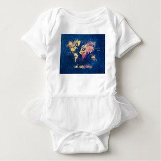 Body Para Bebé OCÉANOS y continentes del mapa del mundo