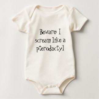 Body Para Bebé Onsie del chillón del Pterodactyl