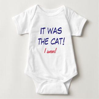 Body Para Bebé ¡Onsie divertido - el bebé culpa el gato!