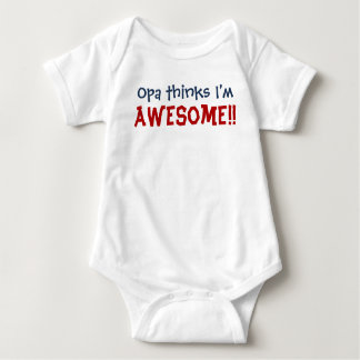 Body Para Bebé ¡Opa piensa que soy impresionante! Mono del niño