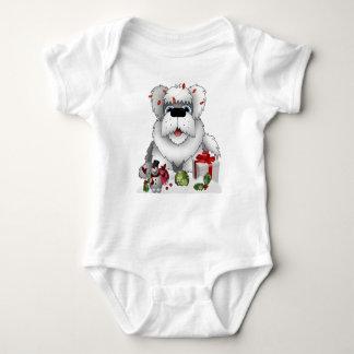 Body Para Bebé Ornamentos blancos rojos del muñeco de nieve del