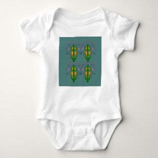 Body Para Bebé Ornamentos de lujo azulverdes