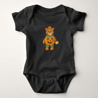 Body Para Bebé Oso de la calabaza de Halloween