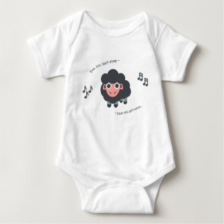 Body Para Bebé Ovejas negras del bebé de la poesía infantil del