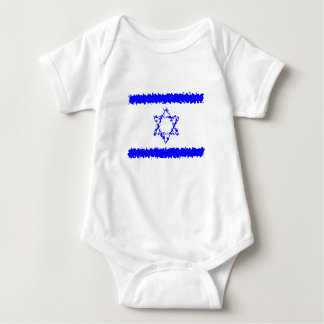 Body Para Bebé País del azul de Israel de las banderas