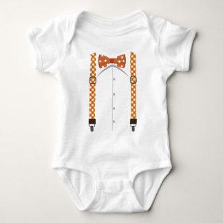 Body Para Bebé Pajarita y mono anaranjados de las ligas