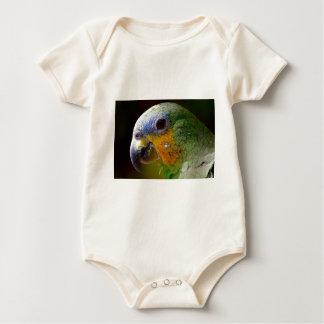 Body Para Bebé Pájaro exótico del verde del pájaro de los