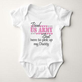Body Para Bebé Palo de golf del ejército aquí para coger al papá