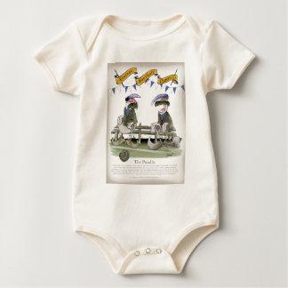 Body Para Bebé pandit azules del equipo del fútbol del fútbol