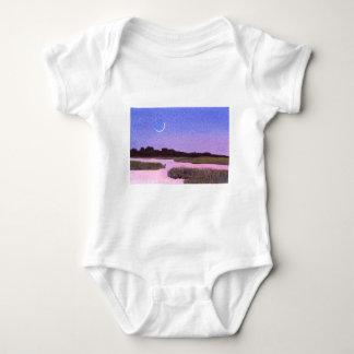 Body Para Bebé Pantano creciente del crepúsculo de la luna y de