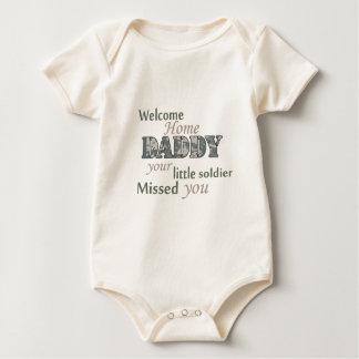 """Body Para Bebé Papá casero agradable - """"pequeño soldado """""""