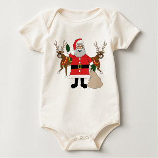 Body Para Bebé Papá Noel y caribú