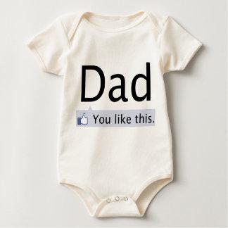 Body Para Bebé Papá: Usted tiene gusto de éste