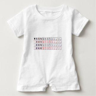Body Para Bebé Paquete de tarjetas en blanco