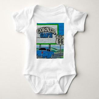 Body Para Bebé Pared de la esquina del café de la ruta 66