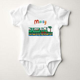 Body Para Bebé Paseo de Maisy y de los amigos en el tren verde