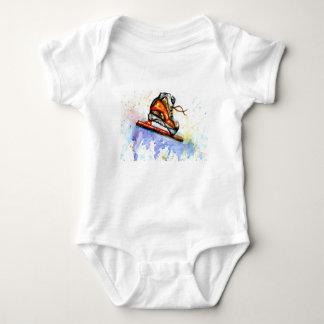 Body Para Bebé Patín de hielo de la acuarela