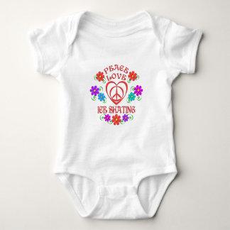 Body Para Bebé Patinaje de hielo del amor de la paz