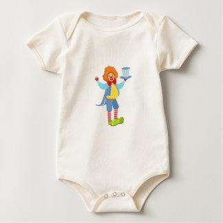 Body Para Bebé Payaso amistoso colorido que sostiene el sombrero