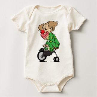 Body Para Bebé Payaso en el triciclo