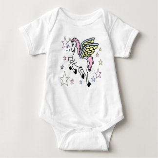Body Para Bebé Pegaso y estrellas