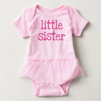 Body Para Bebé Pequeña hermana del texto rosado