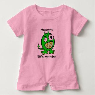 Body Para Bebé Pequeña versión del verde del monstruo de la mamá